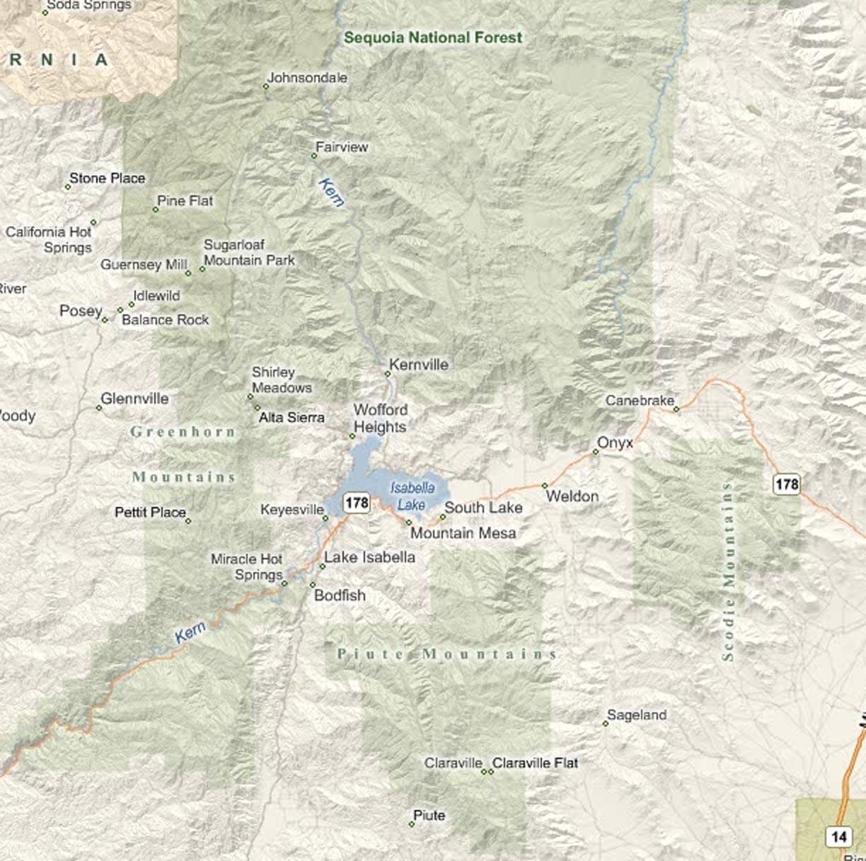 SequoiaNationalForestMap